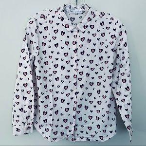 Zara girls heart print top shirt